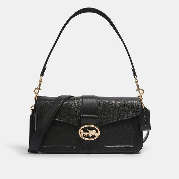 Georgie Shoulder Bag, IM/BLACK, hi-res