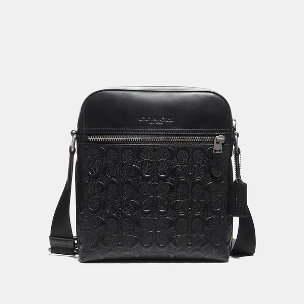 Houston Flight Bag In Signature Leather