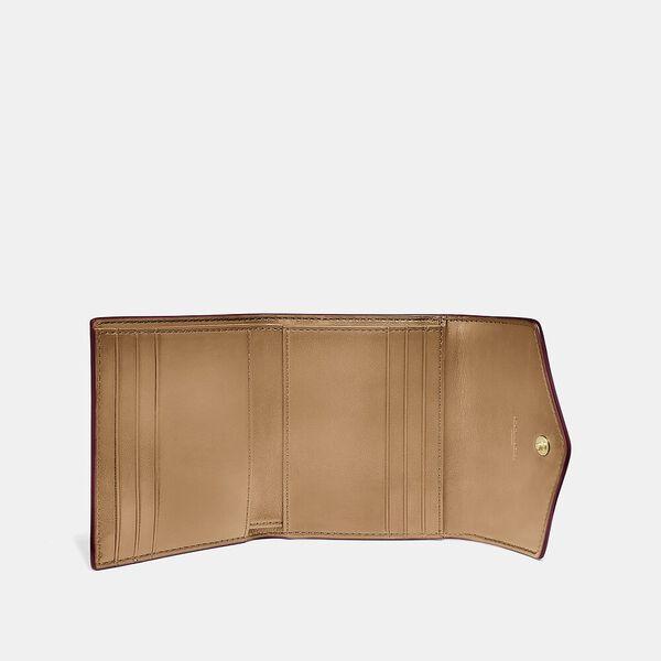 Small Wallet In Colorblock Signature Canvas, B4/TAN CHALK, hi-res