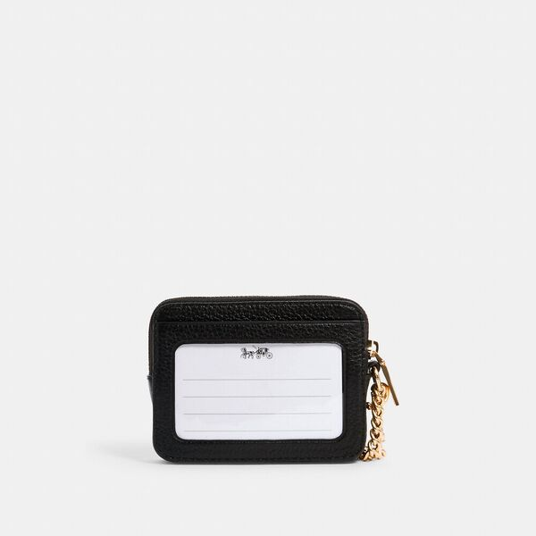 Zip Card Case, IM/BLACK, hi-res