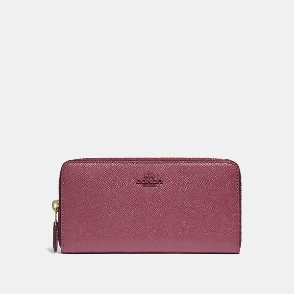 Accordion Zip Wallet, B4/DUSTY PINK, hi-res