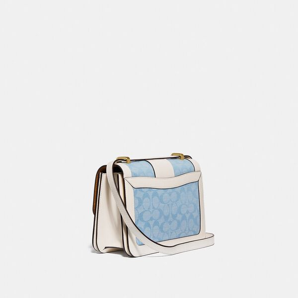 Alie Shoulder Bag In Signature Chambray, B4/LIGHT WASHED DENIM CHALK, hi-res