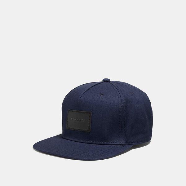 Flat Brim Hat, NAVY, hi-res