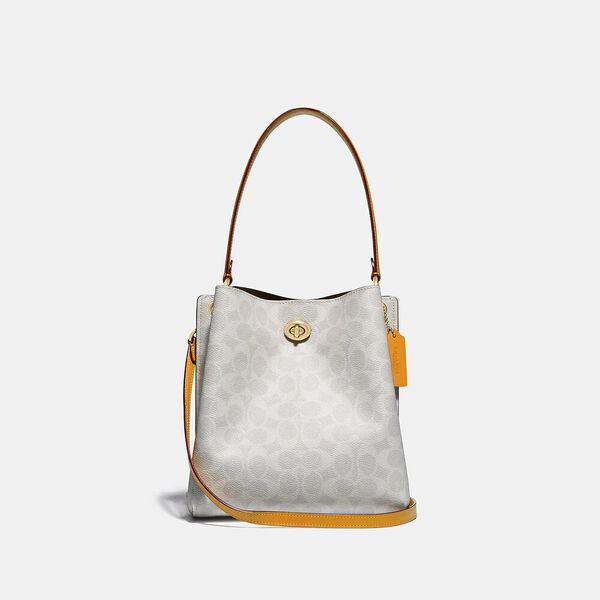 Charlie Bucket Bag 21 In Signature Canvas