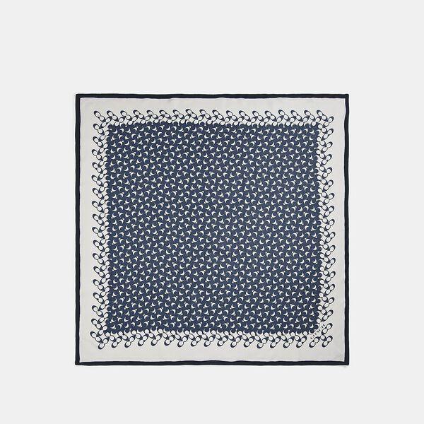 Signature Silk Square Scarf, MIDNIGHT NAVY, hi-res