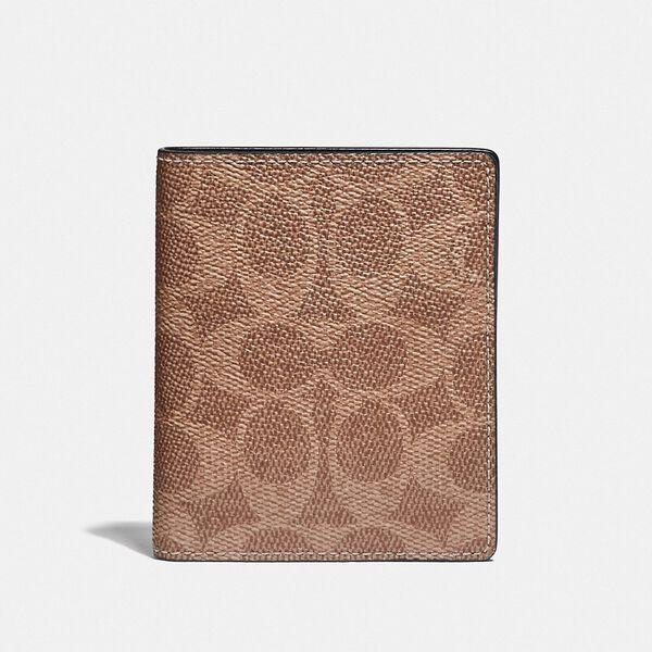 Slim Wallet In Signature Canvas, KHAKI, hi-res