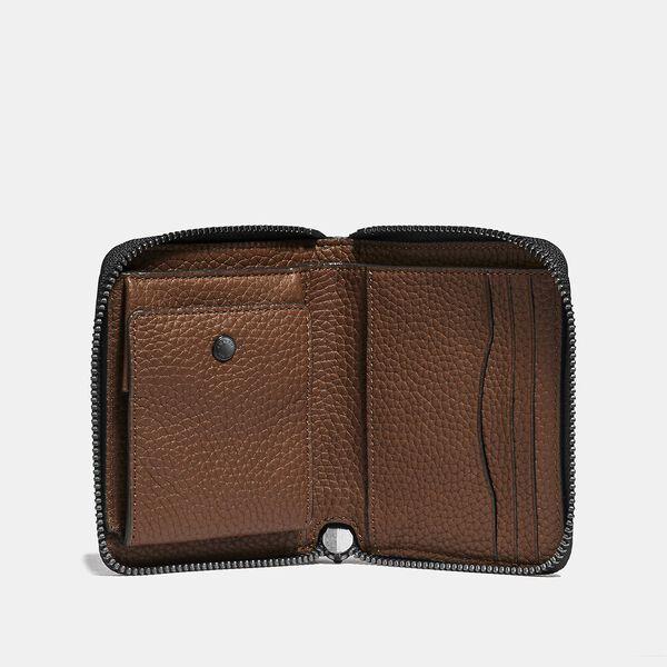 Zip Around Coin Wallet, SADDLE, hi-res