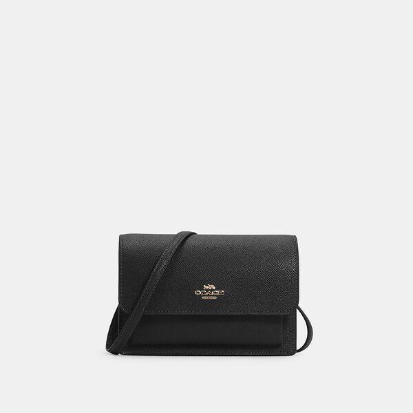 Foldover Belt Bag, IM/BLACK, hi-res