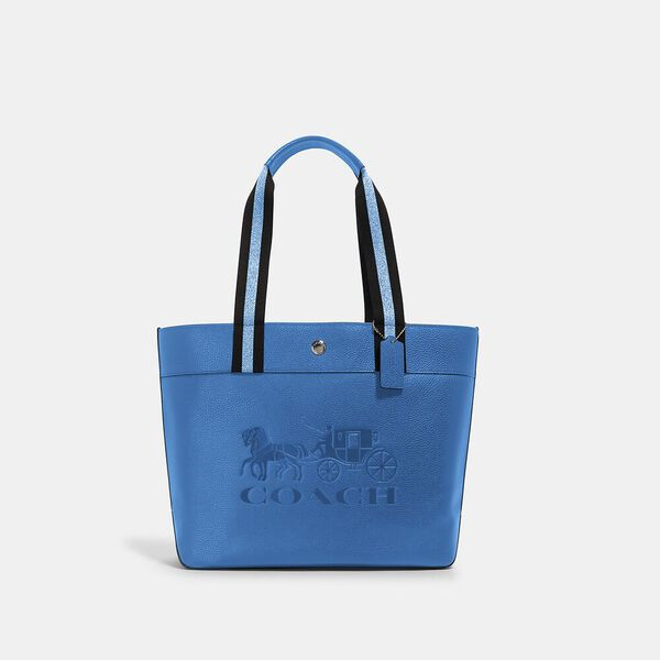 Jes Tote With Horse And Carriage, SV/BLUE JAY, hi-res