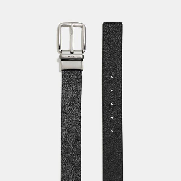 Boxed Belt In Signature Canvas, BLACK/CHARCOAL, hi-res