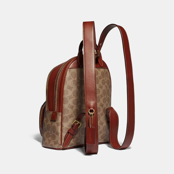 Carrie Backpack 23 In Signature Canvas, B4/TAN RUST, hi-res
