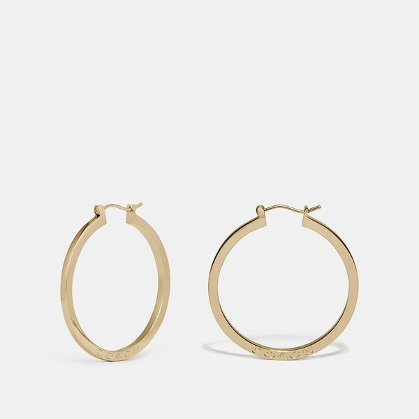 Hoop Earrings, GOLD, hi-res