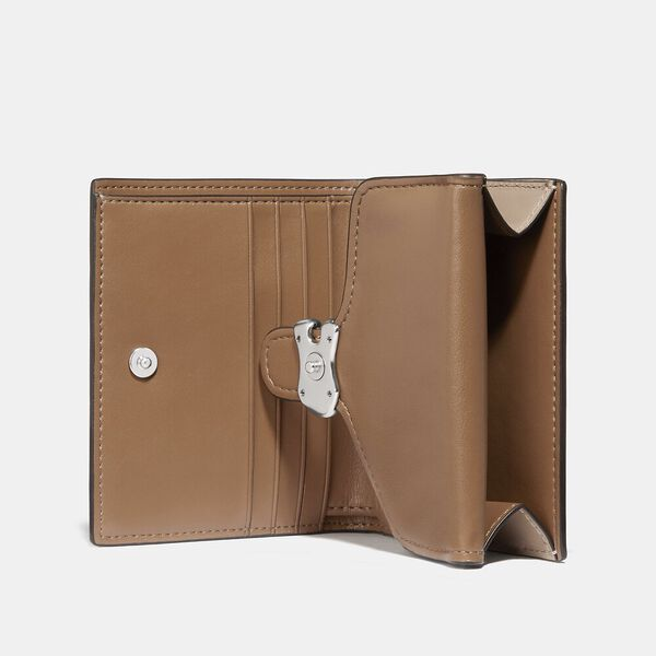 Tabby Small Wallet In Colorblock Signature Canvas, LH/SAND TAUPE, hi-res