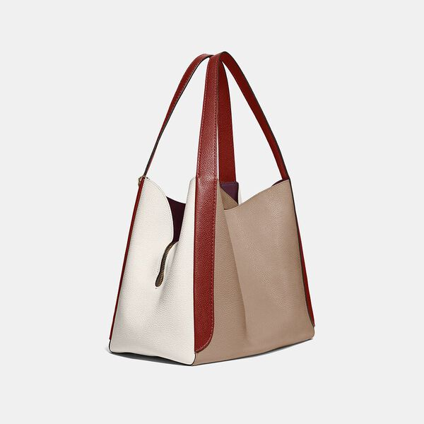 Hadley Hobo In Colorblock, GD/TAUPE RED SAND MULTI, hi-res