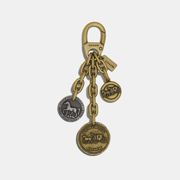 Coach Icon Coin Mix Bag Charm, B4/MULTI, hi-res