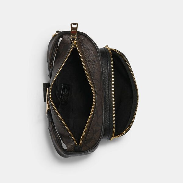 Court Belt Bag In Signature Canvas, IM/BROWN BLACK, hi-res