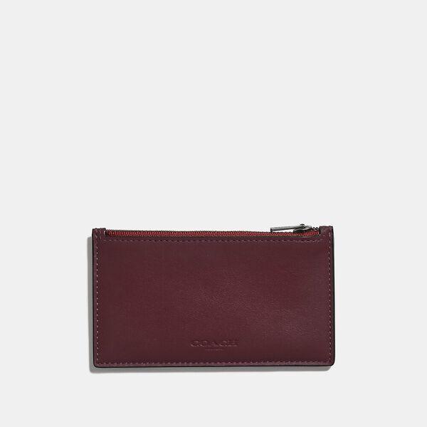 Zip Card Case In Colorblock