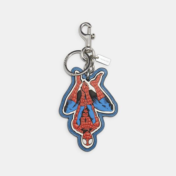 Coach x Marvel Spider-Man Bag Charm, SV/MIAMI RED, hi-res