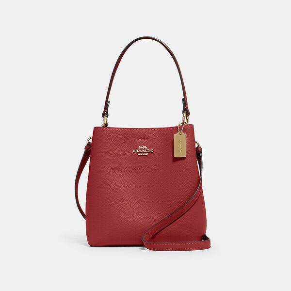 Small Town Bucket Bag, IM/1941 RED/OXBLOOD, hi-res
