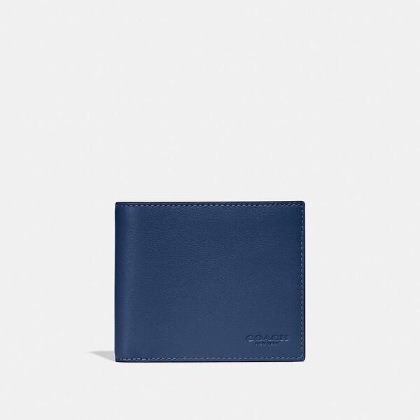 3-In-1 Wallet In Colorblock, DEEP BLUE/PRUSSIAN, hi-res