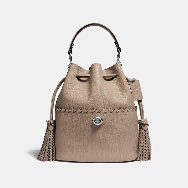 Lora Bucket Bag With Whipstitch Detail