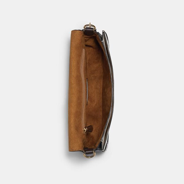 Georgie Shoulder Bag With Colorblock Quilting, IM/CHALK MULTI, hi-res