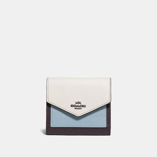 Small Wallet In Colorblock, B4/OXBLOOD MULTI, hi-res