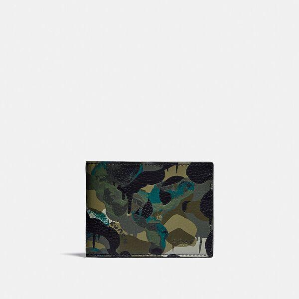 Slim Billfold Wallet With Camo Print