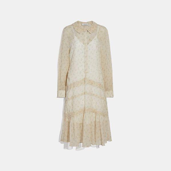 Dot Georgette Pleated Dress