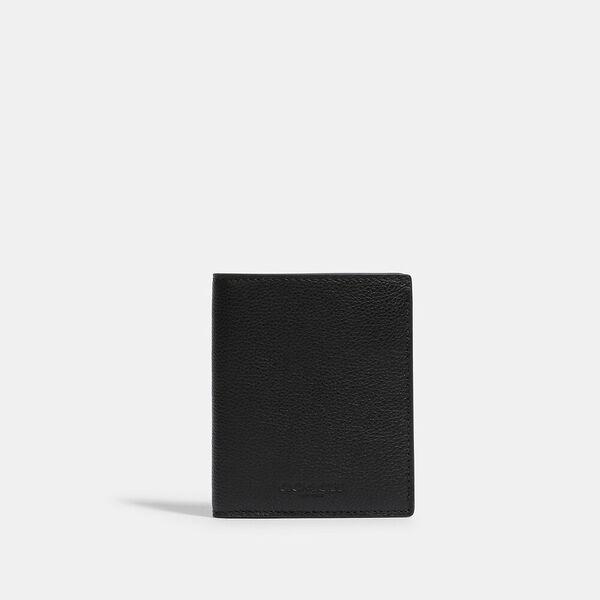 North/South Slim Bill Wallet, QB/BLACK, hi-res