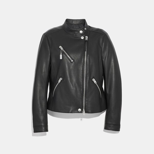 Uptown Racer Jacket, BLACK, hi-res