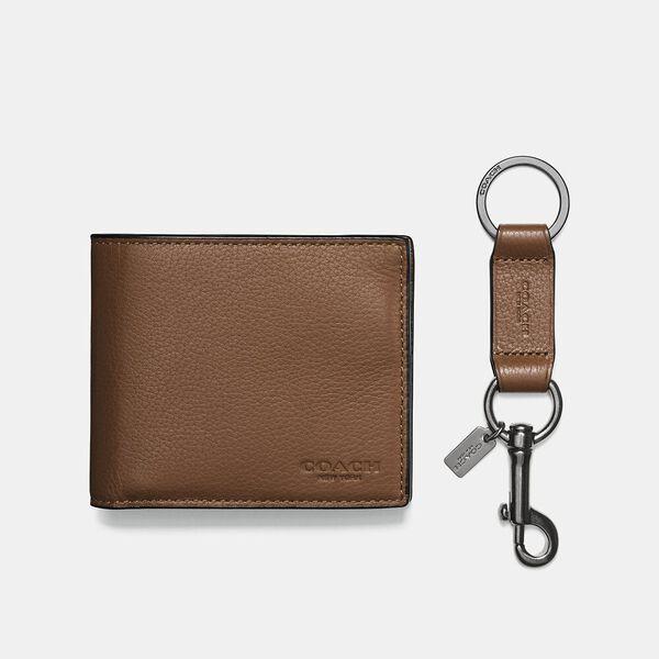 Boxed 3-In-1 Wallet Gift Set, DARK SADDLE, hi-res