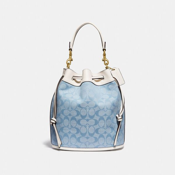 Field Bucket Bag In Signature Chambray