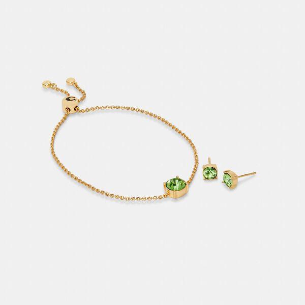 Crystal Stud Bracelet And Earrings Set