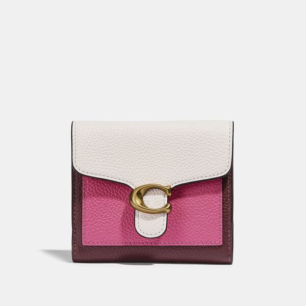 Tabby Small Wallet In Colorblock, B4/CONFETTI PINK MULTI, hi-res