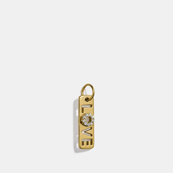 Collectible Love Crystal Charm, GOLD, hi-res