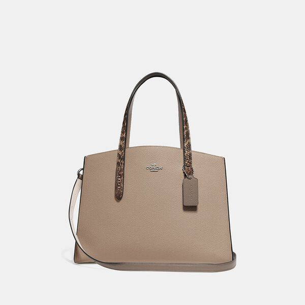 Charlie Carryall With Colorblock Snakeskin Detail, LH/TAUPE MULTI, hi-res