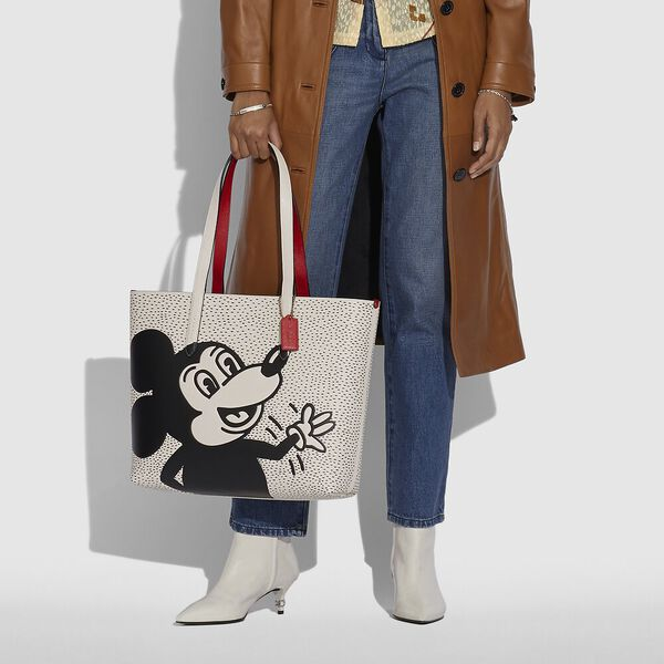Disney Mickey Mouse X Keith Haring Highline Tote, B4/CHALK, hi-res