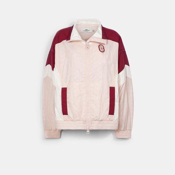 Colorblock Signature Track Jacket, CRYSTAL PINK MULTI, hi-res