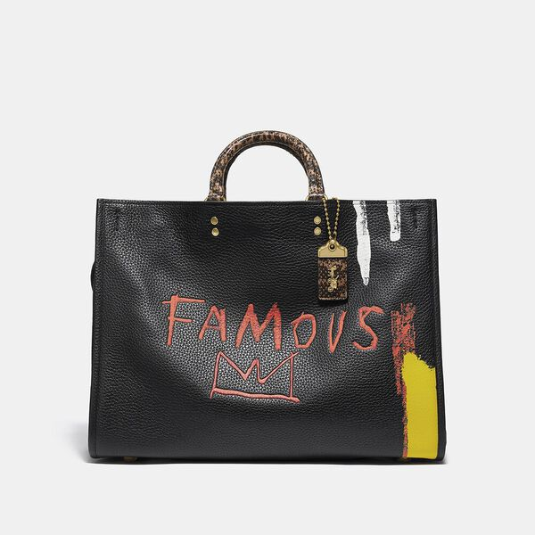 Coach X Basquiat Famous Crown With Snake Handle Rogue Bag 39, B4/BLACK, hi-res