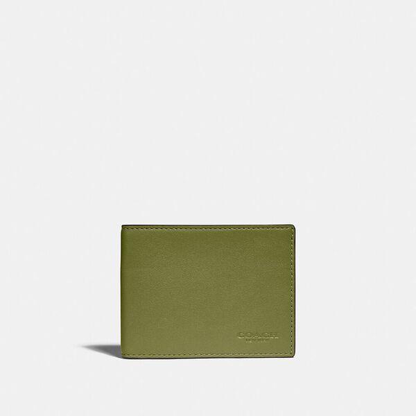 Slim Billfold Wallet In Colorblock, OLIVE GREEN/AMAZON GREEN, hi-res