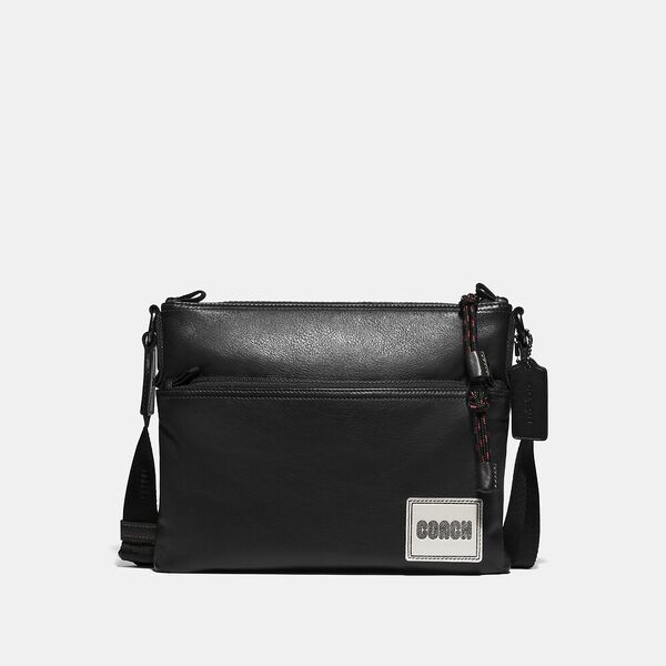 Pacer Crossbody With Coach Patch, JI/BLACK, hi-res