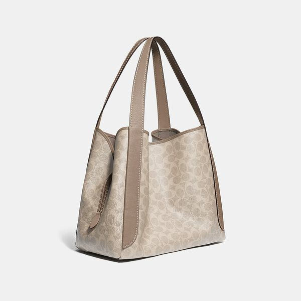 Hadley Hobo In Signature Canvas, LH/SAND TAUPE, hi-res