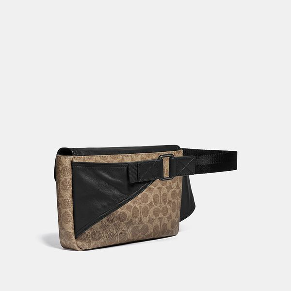 Pacer Belt Bag Crossbody In Signature Canvas With Coach Patch, JI/KHAKI, hi-res