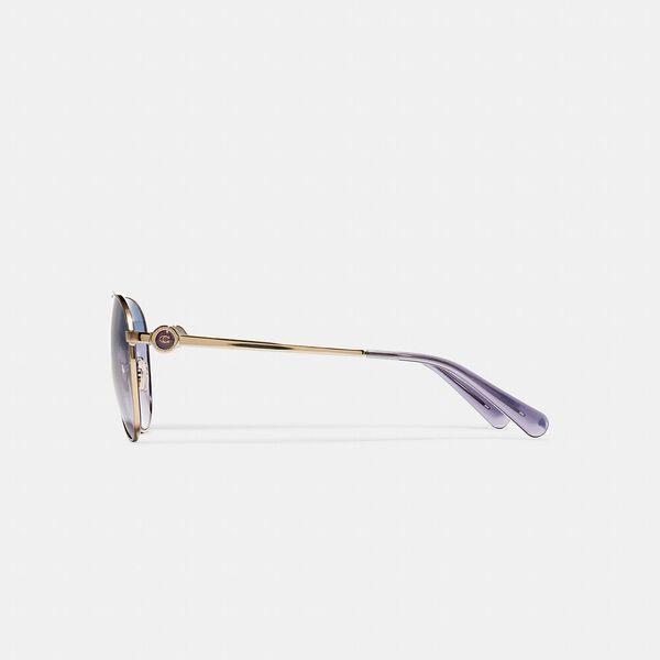 Metal Aviator Sunglasses, SHINY LIGHT GOLD, hi-res