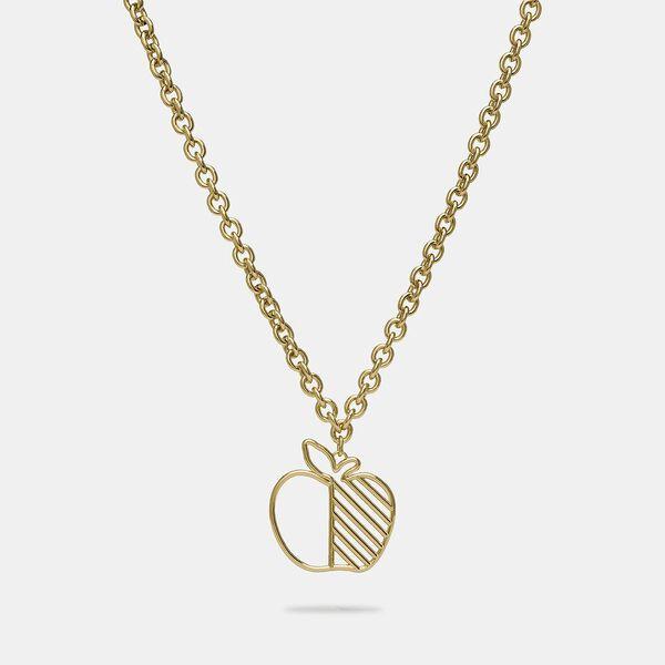 Apple Statement Necklace, GOLD, hi-res