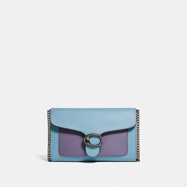Tabby Chain Clutch In Colorblock, V5/AZURE MULTI, hi-res