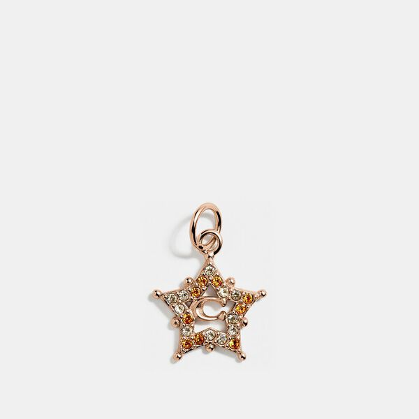 Collectible Star Signature Charm, ROSE GOLD, hi-res