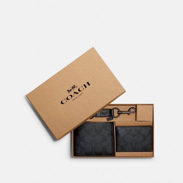 Boxed 3-In-1 Wallet Gift Set In Signature Canvas