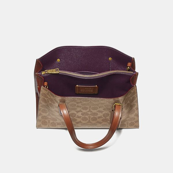 Charlie Carryall 28 In Signature Canvas, V5/Tan Soft Lilac, hi-res